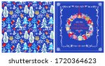 childish seamless christmas... | Shutterstock . vector #1720364623