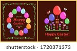 funny childish easter greeting... | Shutterstock . vector #1720371373
