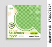 social media banner for food...   Shutterstock .eps vector #1720379629