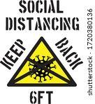 social distancing  keep back... | Shutterstock .eps vector #1720380136