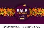 autumn sale vector background....   Shutterstock .eps vector #1720405729