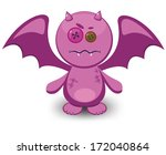 cute monster with wings | Shutterstock .eps vector #172040864