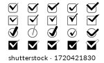 big set of check marks with...   Shutterstock . vector #1720421830