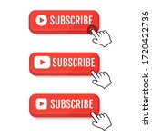 subscribe  call button and hand ...   Shutterstock .eps vector #1720422736