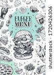burger menu. vintage template... | Shutterstock .eps vector #1720426306