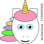 head of unicorn with colourful... | Shutterstock .eps vector #1720429420