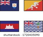 1 st country is angulia. 2 nd... | Shutterstock .eps vector #1720435090