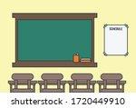illustration of a classroom... | Shutterstock .eps vector #1720449910