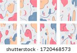 eight abstract backgrounds.... | Shutterstock .eps vector #1720468573