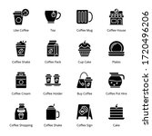 coffee shop glyph icons  ... | Shutterstock .eps vector #1720496206
