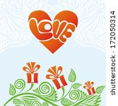 valentines day card romantic... | Shutterstock .eps vector #172050314