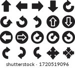 media icon arrow solid style | Shutterstock .eps vector #1720519096