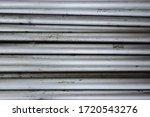 Close Up Of Aluminum Pipe Pole...