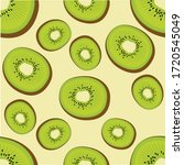 seamless pattern with kiwi...   Shutterstock .eps vector #1720545049