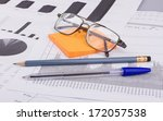 business still life of a pen ... | Shutterstock . vector #172057538