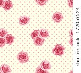 seamless pattern with roses.... | Shutterstock .eps vector #172059524