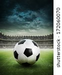 soccer ball on the field of... | Shutterstock . vector #172060070