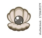 dark open cockleshell clam with ...   Shutterstock .eps vector #1720639279