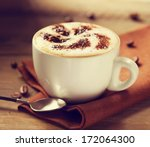 cappuccino. cup of cappuccino... | Shutterstock . vector #172064300