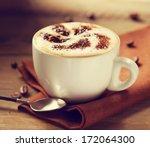 cappuccino. cup of cappuccino...   Shutterstock . vector #172064300
