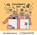 happy children's day. children... | Shutterstock .eps vector #1720643530