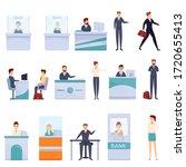 bank teller icons set. cartoon...   Shutterstock .eps vector #1720655413