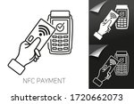 vector outline of nfc payments. ... | Shutterstock .eps vector #1720662073