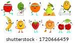 sport fruits characters.... | Shutterstock .eps vector #1720666459