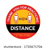 thank you for practicing social ... | Shutterstock .eps vector #1720671706