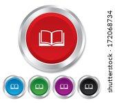 book sign icon. open book... | Shutterstock . vector #172068734