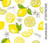 fresh yellow fruits of lemon ... | Shutterstock .eps vector #1720700560
