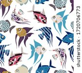 seamless pattern with fish. can ...   Shutterstock .eps vector #1720706773