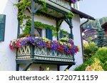 Traditional Tirol House Balcony ...