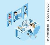 isometric burnout concept ... | Shutterstock .eps vector #1720711720