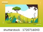 beautiful landscape with... | Shutterstock .eps vector #1720716043