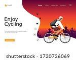 enjoy cycling vector...