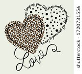 leopard print with heart love.... | Shutterstock .eps vector #1720731556