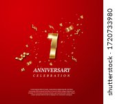 first anniversary celebration.... | Shutterstock .eps vector #1720733980