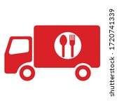 this is the food delivery truck ...   Shutterstock .eps vector #1720741339