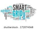 word cloud with smart grid... | Shutterstock . vector #172074368
