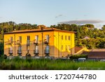 Traditional buildings under sunset in the town of Avellino, capital of the province of Avellino in the Campania region of southern Italy