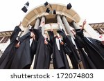 group of happy graduates... | Shutterstock . vector #172074803
