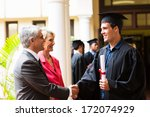 proud father congratulating his ... | Shutterstock . vector #172074929
