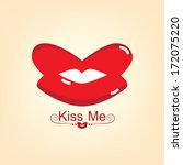 mouth shape love and valentine... | Shutterstock .eps vector #172075220