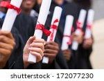 Group Of Multiracial Graduates...