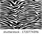 zebra print hand drawn vector... | Shutterstock .eps vector #1720774396