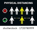 physical distancing ...   Shutterstock .eps vector #1720780999