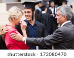 proud mother with tears of joy... | Shutterstock . vector #172080470