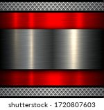 metal background with shiny... | Shutterstock .eps vector #1720807603