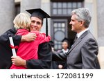 happy male graduate hugging his ... | Shutterstock . vector #172081199